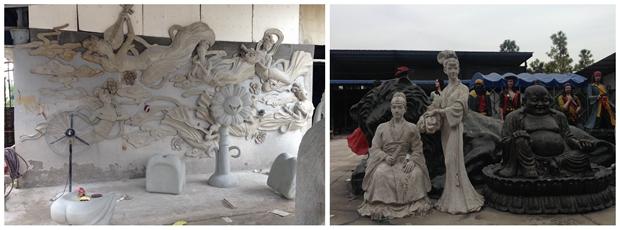 出自于张工团队的雕塑作品